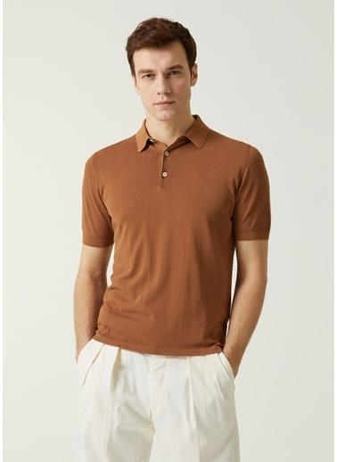 Eleventy Polo Yaka T-shirt Camel